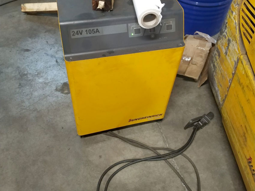 Bateria de la carretilla elevadora usada
