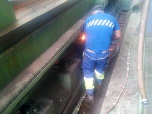 desmontaje maquinaria industrial usada
