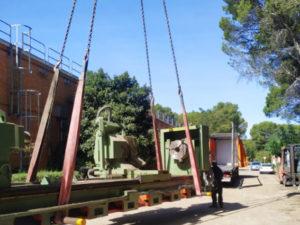 desmontaje y movimiento maquinaria industrial de segunda mano